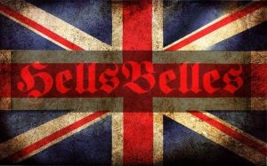 Union Flag + HellsBelles logo - on the NWOBHM Show